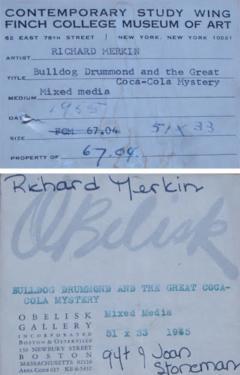 Richard Marshall Merkin Richard Merkin Mixed Media 1965 - 1366725