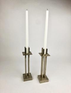 Richard Meier Nan Swid Design Stainless Steel Candlesticks - 1363151