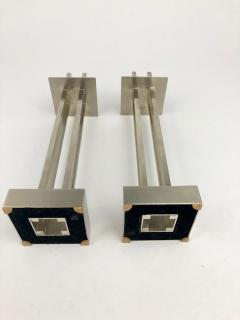 Richard Meier Nan Swid Design Stainless Steel Candlesticks - 1363178
