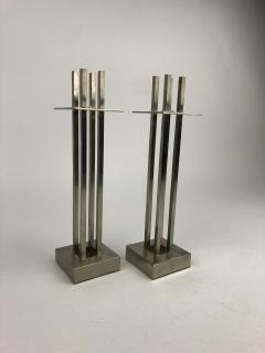 Richard Meier Nan Swid Design Stainless Steel Candlesticks - 1363182