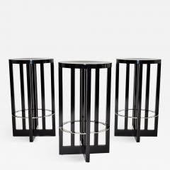 Richard Meier Set of Three High Stools by Richard Meier for Knoll 1982 - 1008619