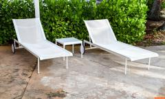 Richard Schultz Pair of Richard Schultz Chaise Longue Chairs and Table - 287597