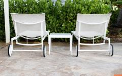 Richard Schultz Pair of Richard Schultz Chaise Longue Chairs and Table - 287599