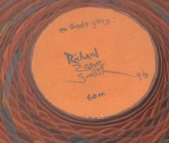 Richard Zane Smith Corrugated polychrome Wyandot jar by Richard Zane Smith - 1319196