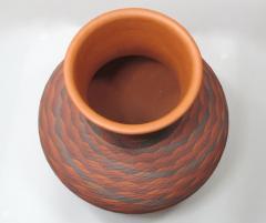 Richard Zane Smith Corrugated polychrome Wyandot jar by Richard Zane Smith - 1319197