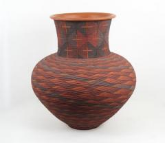 Richard Zane Smith Corrugated polychrome Wyandot jar by Richard Zane Smith - 1319199