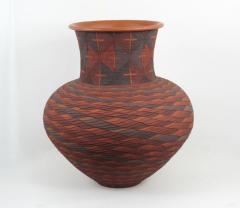 Richard Zane Smith Corrugated polychrome Wyandot jar by Richard Zane Smith - 1319200