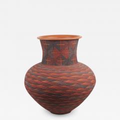 Richard Zane Smith Corrugated polychrome Wyandot jar by Richard Zane Smith - 1320837