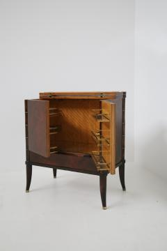 Rico Tomaso Italian Bar Cabinet by Tomaso Buzzi in Wood and Brass Verified Archive 1940s - 1595692