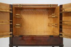 Rico Tomaso Italian Bar Cabinet by Tomaso Buzzi in Wood and Brass Verified Archive 1940s - 1595693