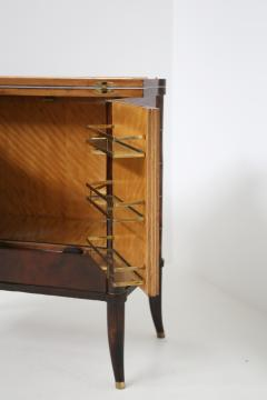 Rico Tomaso Italian Bar Cabinet by Tomaso Buzzi in Wood and Brass Verified Archive 1940s - 1595700
