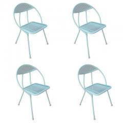 Rid Jid Steel Outdoor Patio Dining Set with Four Chairs - 1348136