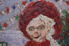 Rifka Angel Giant Woman Encaustic Painting by Rifka Angel 1971 - 620009