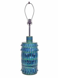 Rimini Blue Mid Century Table Lamp - 1589678