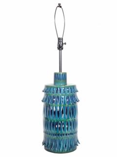 Rimini Blue Mid Century Table Lamp - 1589679