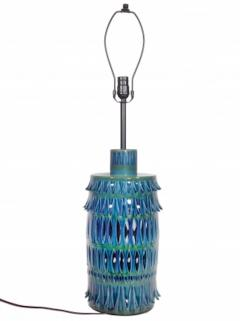 Rimini Blue Mid Century Table Lamp - 1589681