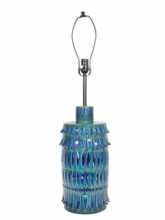 Rimini Blue Mid Century Table Lamp - 1589682