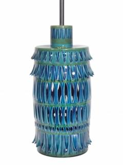 Rimini Blue Mid Century Table Lamp - 1589683