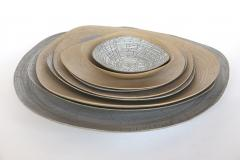 Rina Menardi Rina Menardi Handmade Ceramic Triangular Crackled Bowls - 295363