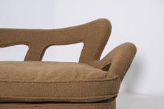 Rito Valla Italian sof Attributed to Carlo Enrico Rava in Boucl Fabric 1940s - 1898982