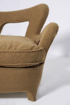 Rito Valla Italian sof Attributed to Carlo Enrico Rava in Boucl Fabric 1940s - 1898984