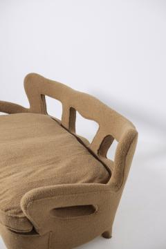 Rito Valla Italian sof Attributed to Carlo Enrico Rava in Boucl Fabric 1940s - 1898985