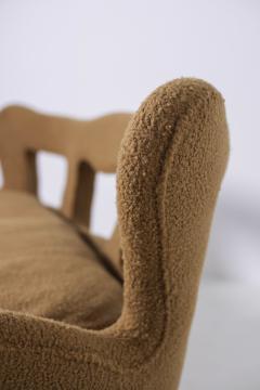 Rito Valla Italian sof Attributed to Carlo Enrico Rava in Boucl Fabric 1940s - 1898986
