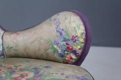 Rito Valla Pair of MidCentury armchairs attributed to Rito Valla fabric Fede Cheti purple - 1497444