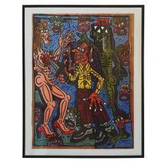 Robert COMBAS Robert Combas Original Serigraphy 28 30 1990 - 1289631
