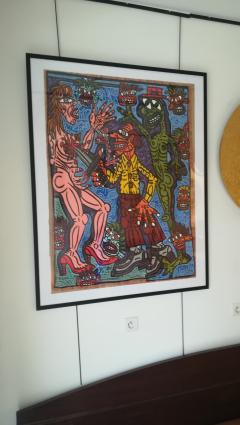 Robert COMBAS Robert Combas Original Serigraphy 28 30 1990 - 1289639
