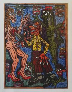 Robert COMBAS Robert Combas Original Serigraphy 28 30 1990 - 1289850