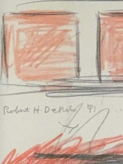 Robert De Niro Sr Robert De Niro Sr Iconic Maxwell Mahogany Bar Sketch - 1274393