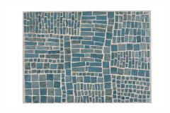 Robert Deblander Mosaic Glass Tile Top Side Table - 894134