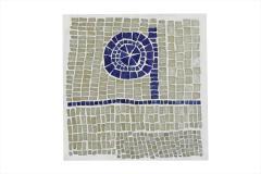 Robert Deblander Mosaic Tile Top Side Table - 894136