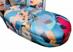 Robert Fischer Pop Art Hand Painted Chaise Lounge By Saturday Sale