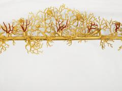 Robert Goossens Coral mirror with natural coral and gilded bronze by Robert Goossens 1970 - 952929