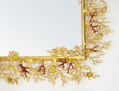 Robert Goossens Coral mirror with natural coral and gilded bronze by Robert Goossens 1970 - 952930
