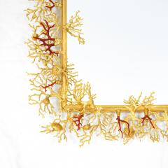 Robert Goossens Coral mirror with natural coral and gilded bronze by Robert Goossens 1970 - 952931