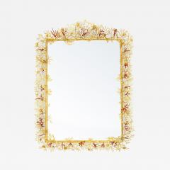 Robert Goossens Coral mirror with natural coral and gilded bronze by Robert Goossens 1970 - 956453