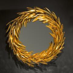 Robert Goossens Crown of wheat mirror by Robert Goossens circa 1970 - 1055089