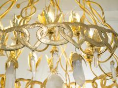 Robert Goossens Heart chandelier in bronze and rock crystal Robert Goossens circa 1970 - 1055339
