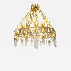 Robert Goossens Heart chandelier in bronze and rock crystal Robert Goossens circa 1970 - 1056047