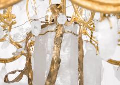Robert Goossens Ribbon chandelier by Robert Goossens in bronze and rock crystal France 1983 - 1151009