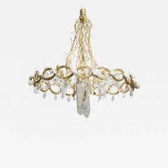 Robert Goossens Ribbon chandelier by Robert Goossens in bronze and rock crystal France 1983 - 1151773