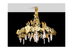 Robert Goossens Robert Goossens Water Lillies Crystal Chandelier for Crist bal Balenciaga 1970s - 1553469
