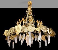 Robert Goossens Robert Goossens Water Lillies Crystal Chandelier for Crist bal Balenciaga 1970s - 1553470