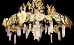 Robert Goossens Robert Goossens Water Lillies Crystal Chandelier for Crist bal Balenciaga 1970s - 1553471