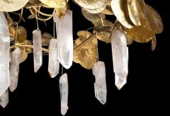 Robert Goossens Robert Goossens Water Lillies Crystal Chandelier for Crist bal Balenciaga 1970s - 1553476