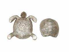 Robert Goossens Silvered bronze turtle box by Robert Goossens circa 1970 - 1055207