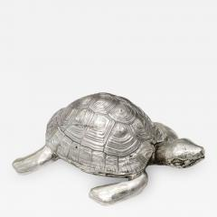 Robert Goossens Silvered bronze turtle box by Robert Goossens circa 1970 - 1056237